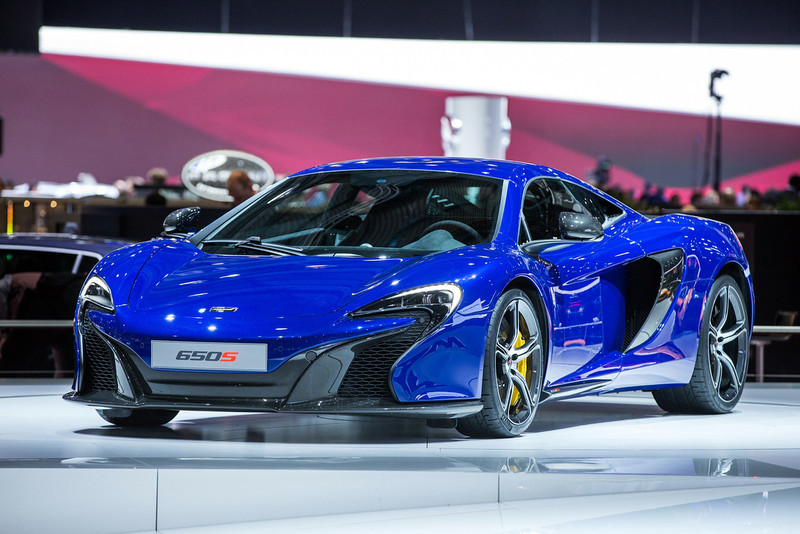 . The 2015 McLaren 650s is presented at the Geneva Motor Show in Geneva, Switzerland, on March 4, 2014. AFP PHOTO / PIERRE ALBOUYPIERRE ALBOUY/AFP/Getty Images