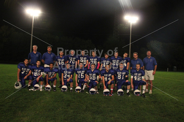 8th grade fball v. south beloit . parent night . 10.8.13