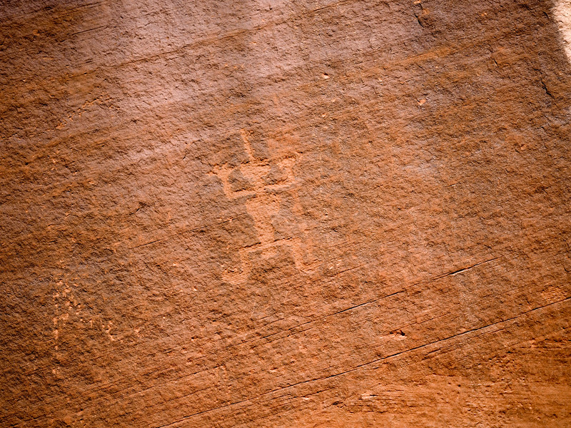 Anasazi petroglyph in Monument Valley