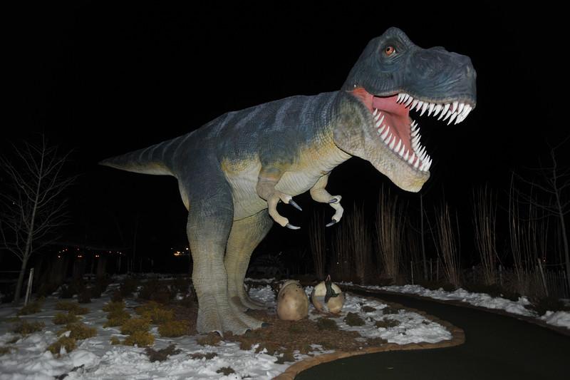 Dinosaurs at miniture golf near Clifton Hill