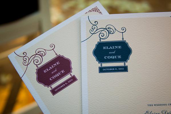 Coque and Elaine Wedding