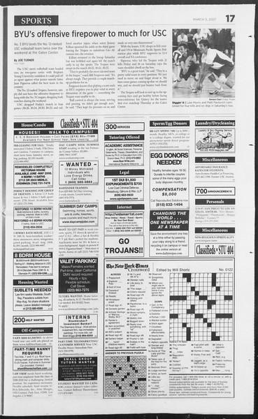 Daily Trojan, Vol. 160, No. 36, March 05, 2007