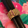 .38ctw Antique Diamond and Ruby Buckle Ring 4