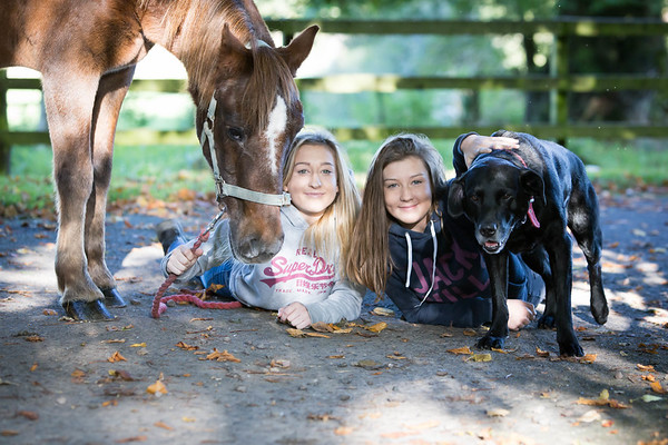 Buckley girls and ponies - Oct 2017