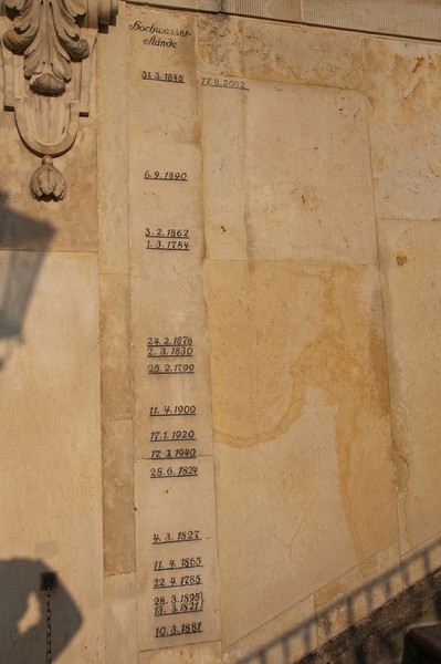 Dates signed on a wall in Dresden, Germany