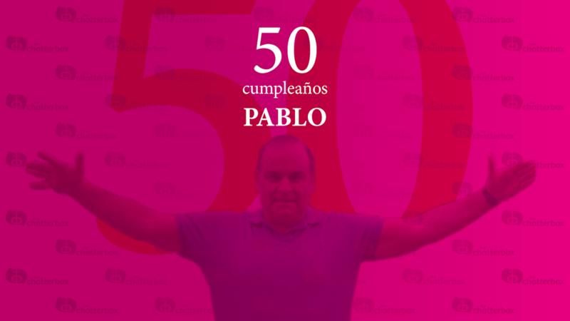 Pablo 50 cumpleaños