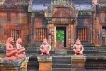 Pink sandstone makes Bantay Seray a unique Angkor temple