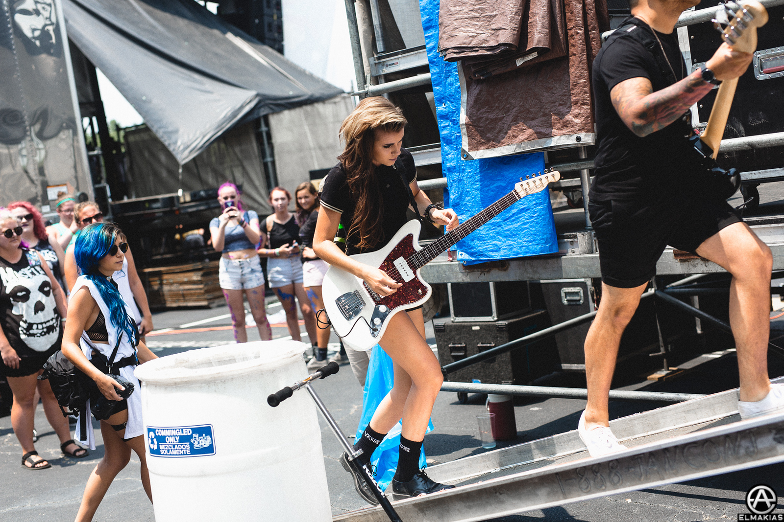 PVRIS before their set at Vans Warped Tour 2015 by Adam Elmakias