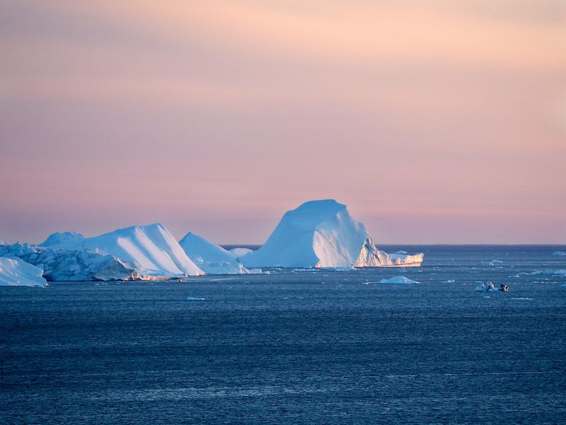 Sunset on the Ilulissat Icefjord