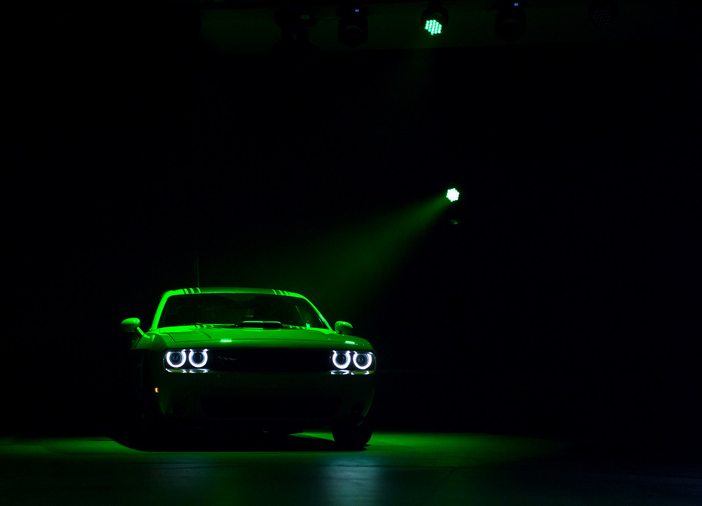 . The 2015 Dodge Challenger is unveiled during a media preview of the 2014 New York International Auto Show in New York. The show opens with a sneak preview to the public April 18th and runs through April 27th. (Photo by Eric Thayer/Getty Images)