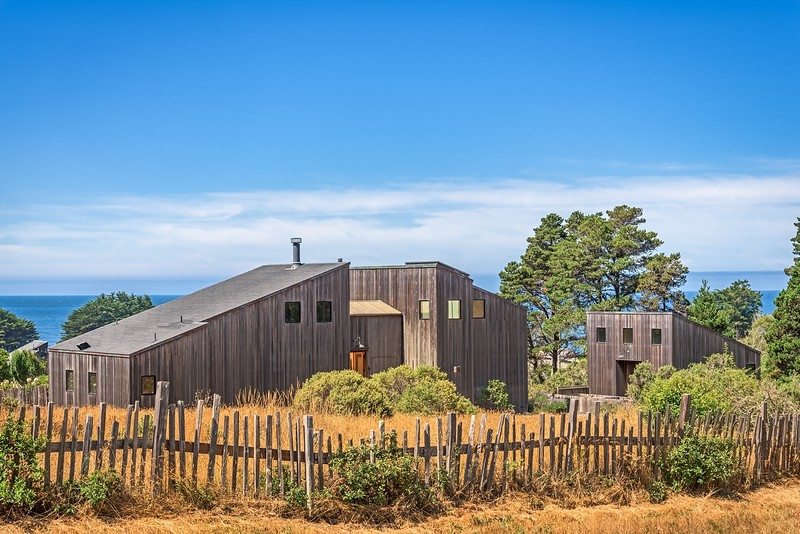 Front View of Clipper's Reach, Sea Ranch