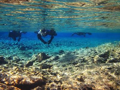 Snorkeling Silfra Rift Valley in Thingvellir