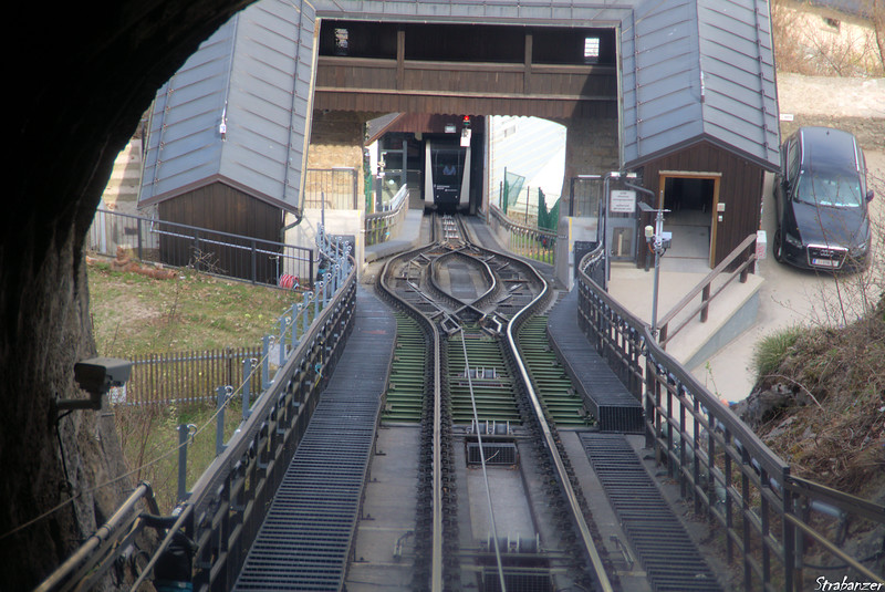 The funicular to Hohensalzburg