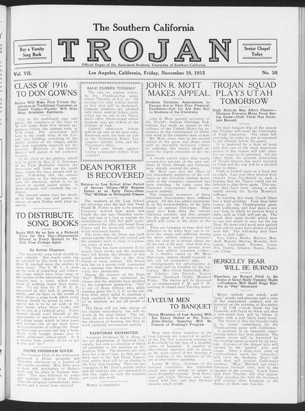 The Southern California Trojan, Vol. 7, No. 38, November 19, 1915
