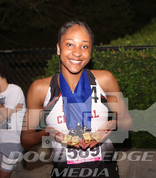 2 North Central's freshman strick gold in her first IHSAA State Track and Field as she won 200,400, 4x1 relay and 4x4 relay..JPG