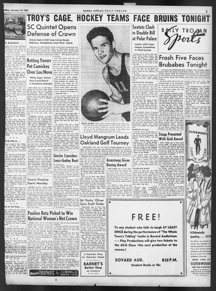 Daily Trojan, Vol. 32, No. 69, January 10, 1941