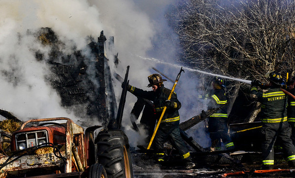 Two-alarm barn fire in Westminster - 111719