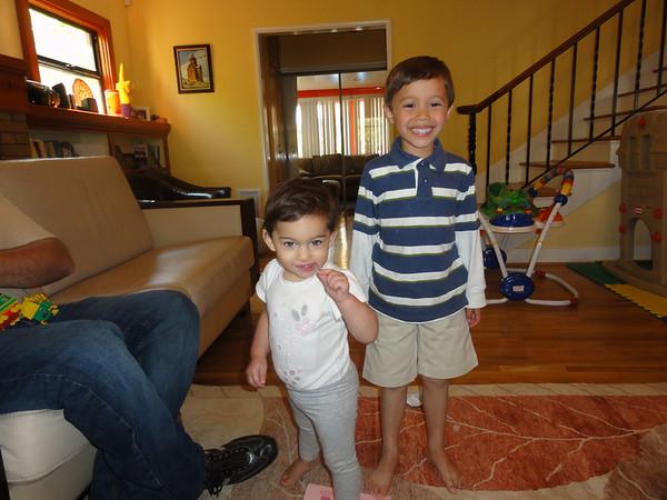 Visit with Baby Ella, Cecile & Arthur
