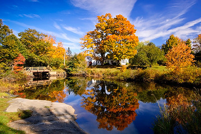 Autumn reflection Maine-style.