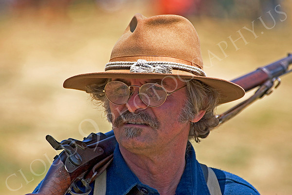 Pictures of Historical Re-Enactors of U.S. Army Spanish-American War Rough Riders