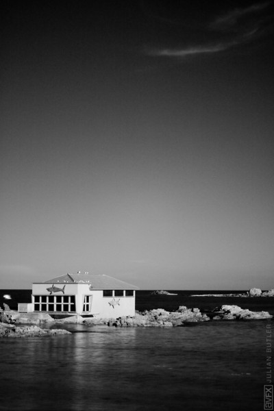 I shot this Image of the bait shed in Island Bay with my hoya R-72 infra red filter and then tweaked the output in Adobe Lightroom.