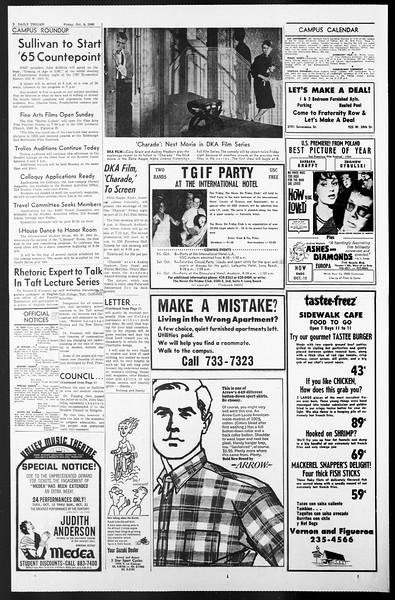 Daily Trojan, Vol. 57, No. 15, October 08, 1965