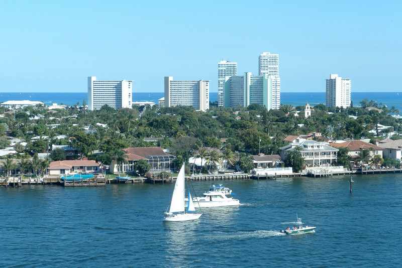Onboard the Emerald Princess, overlooking the Ft. Lauderdale port