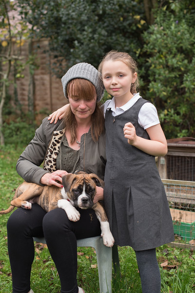 Tracey Sharpe and new puppy Tavi
