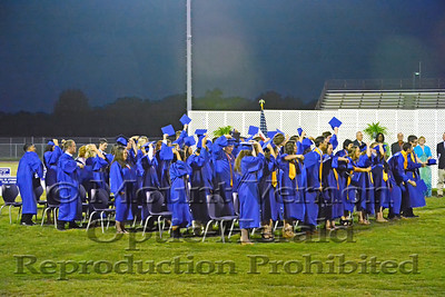 2014 Graduation hat toss