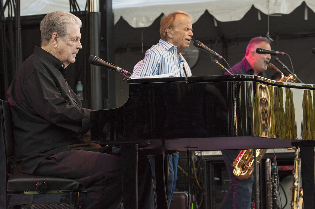". Brian Wilson and Al Jardine seen at the 2016 Pitchfork Music Festival, performing the classic Beach Boys album ""Pet Sounds\"" on Saturday, July 16, 2016 in Chicago. The performance comes to the Hard Rock Rocksino at Northfield Park on April 22. For more information, visit <a href=\""https://www.hrrocksinonorthfieldpark.com/\"">hrrocksinonorthfieldpark.com</a>. (Photo by Barry Brecheisen/Invision/AP)"