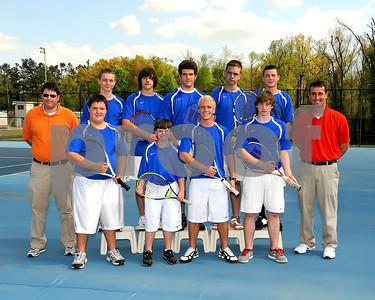 Marshall County Boys 2012 Tennis Team, March 26, 2012, Coaches Ryan Marchetti & Todd Anderson.