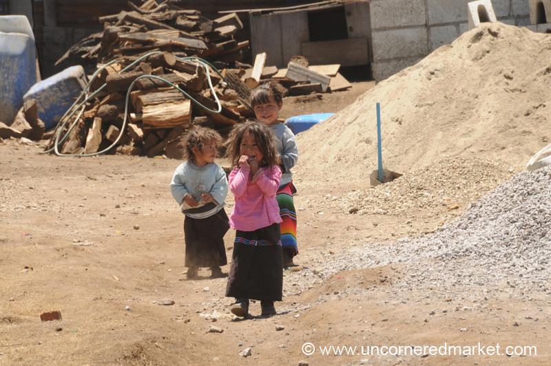 Curious Guatemalan Girls - Lake Atitlan, Guatemala