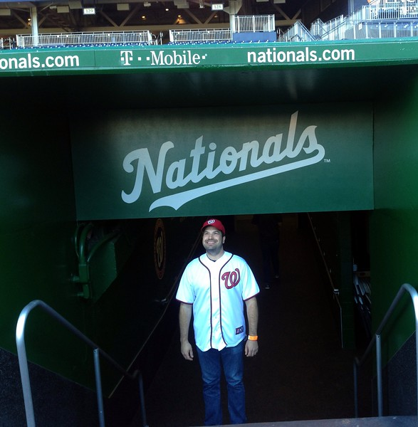 Craig emerges from the Nationals clubhouse (photo by Jenni Simmons)
