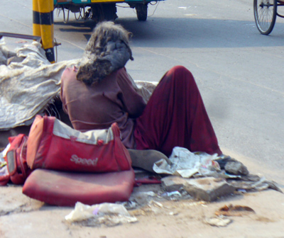 Homeless Woman in India