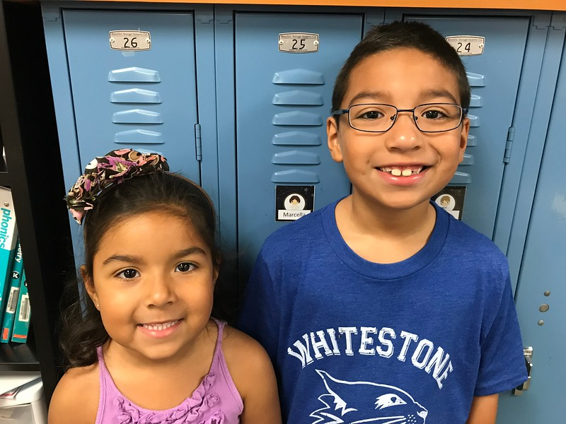 Marcella and friend | Kindergarten | Knowles Elementary School