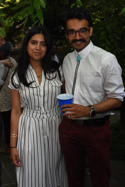 Soumya Gowda, Moja Christian. Blue Wave Book Opening. June 5, 2018. 616 North Carolina St SE. Amanda Warden..JPG