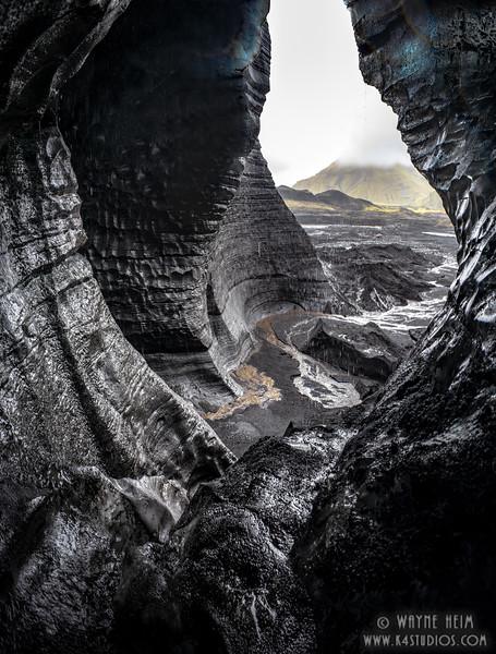 Glacier Cave   Photography by Wayne Heim