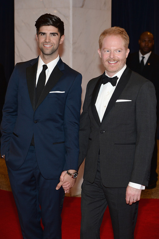 . Lawyer Justin Mikita and actor Jesse Tyler Ferguson attend the 100th Annual White House Correspondents\' Association Dinner at the Washington Hilton on May 3, 2014 in Washington, DC.  (Photo by Dimitrios Kambouris/Getty Images)