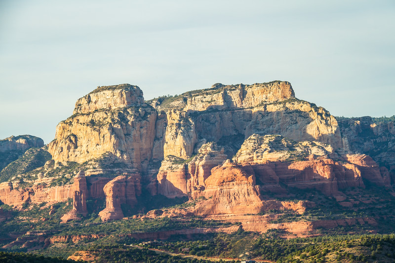 The red cliff faces of Sedona