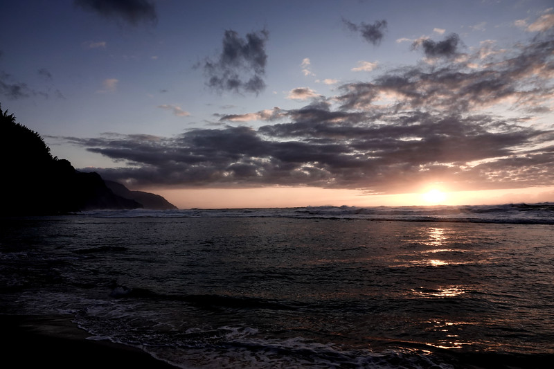 Sunset on the Napali coast of Kauai