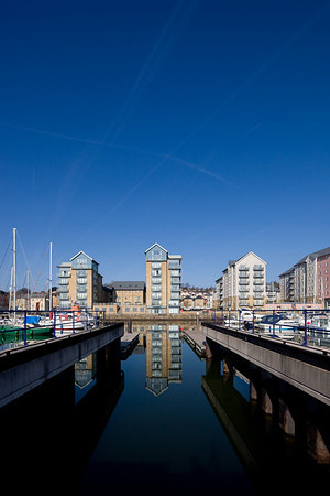 Portishead Marina and surrounding area 2010