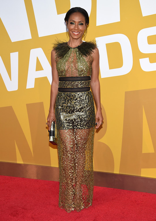 . Jada Pinkett Smith arrives at the NBA Awards at Basketball City at Pier 36 on Monday, June 26, 2017, in New York. (Photo by Evan Agostini/Invision/AP)