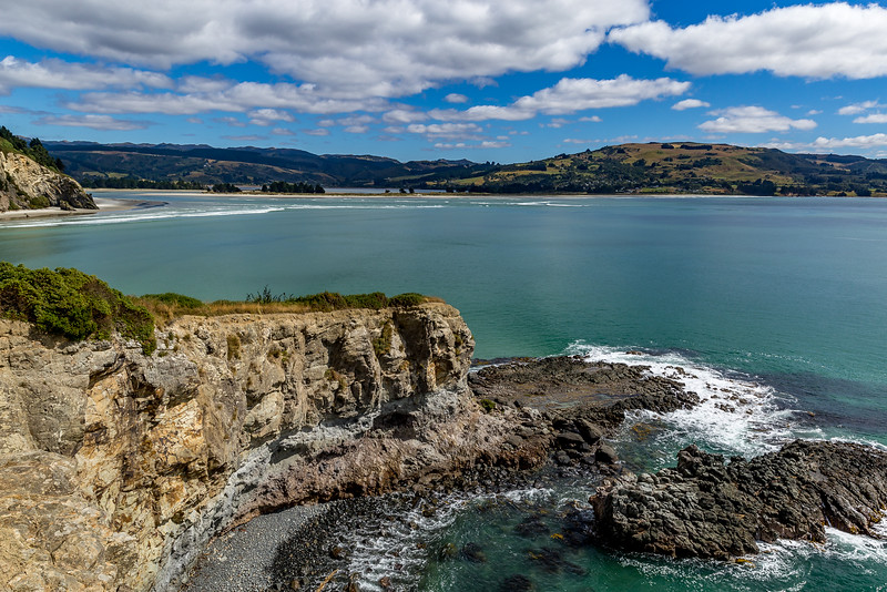 Blick vom «Mapoutahi Pa» Richtung Blueskin Bay