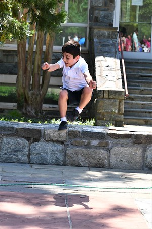 First Graders Jump for Joy with Seventh- and Eighth-Grade Friends