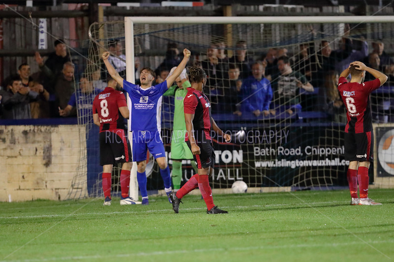 CHIPPENHAM TOWN V CIRENCESTER TOWN F.A. CUP REPLAY MATCH PICTURES 24th SEPTEMBER 2019