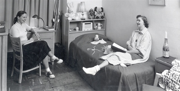 Student room in the 1950s