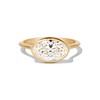 1.17ct Antique Moval Cut Diamond Bezel Ring, GIA E SI1 19