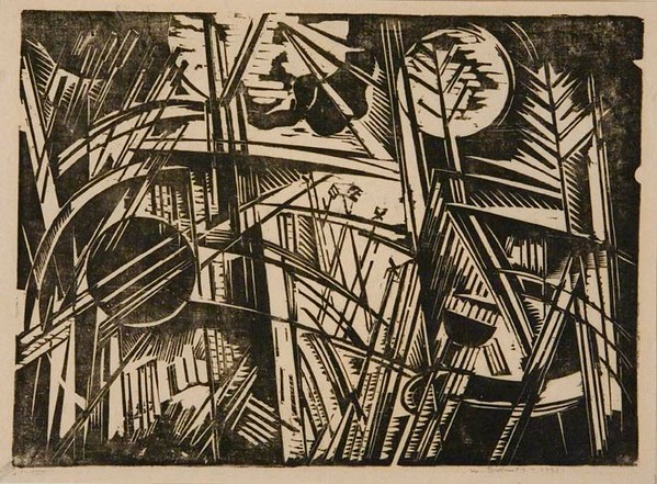 "Werner Drewes, ""Grass and Sun (Dream in the Grass)"" (1932)"