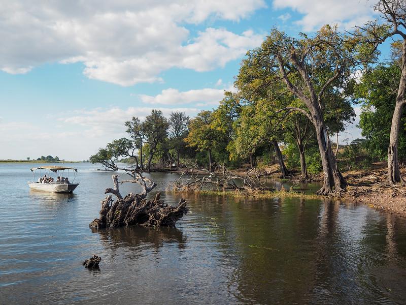 Boat safari in Chobe National Park