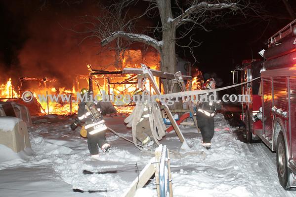 2/2/14 - Onondaga pole barn fire, 5081 Ferris Rd